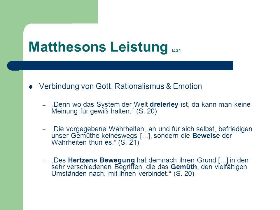 Matthesons Leistung [Z.27]